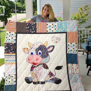 Cute Cow Quilt Blanket Great Customized Blanket Gifts For Birthday Christmas Thanksgiving