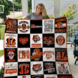 Cincinnati Bengals Quilt Blanket 02