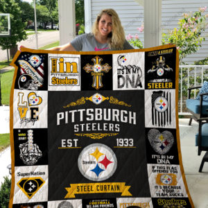 Pittsburgh Steelers Quilt Blanket 01