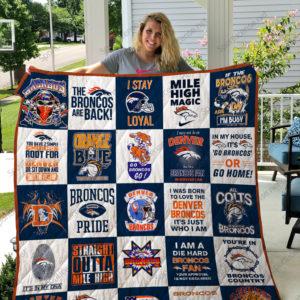 Denver Broncos Quilt Blanket 02