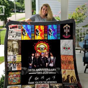 Guns N' Roses Quilt Blanket