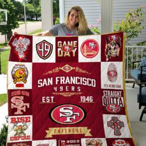 San Francisco 49ers Quilt Blanket 01