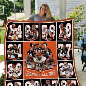 Cincinnati Bengals Quilt Blanket