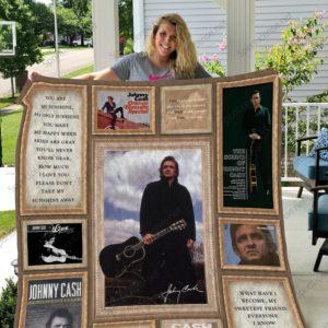 Johnny Cash Quilt Blanket