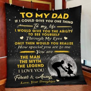 To My Dad – Quilt Blanket