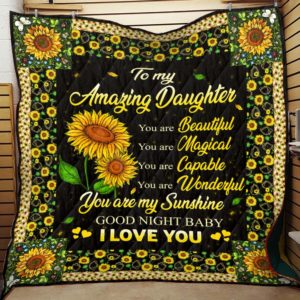 To My Amazing Daughter – Quilt Blanket