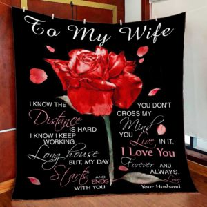 Personalized To My Wife Quilt Blanket From Husband I Love You Forever And Always Great Customized Blanket Gifts For Birthday Christmas Thanksgiving