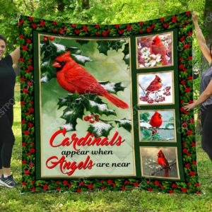 Cardinals Appear When Angles Are Near – Quilt Blanket