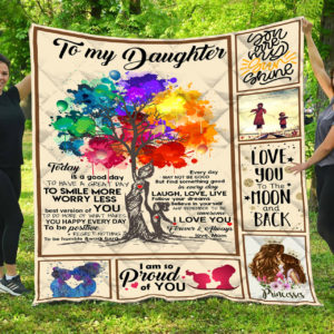 Personalized To My Daughter From Mom Do More Of What Makes You Happy Everyday Quilt Blanket Great Customized Gifts For Birthday Christmas Thanksgiving Perfect Gifts For Daughter