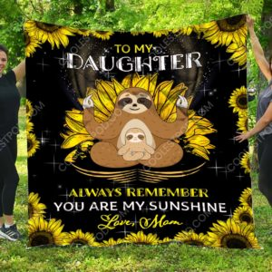 To My Daughter – Sloth Quilt Blanket 02