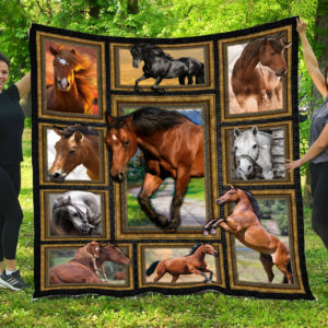 Horse Picture Collection Quilt Blanket Great Customized Blanket Gifts For Birthday Christmas Thanksgiving