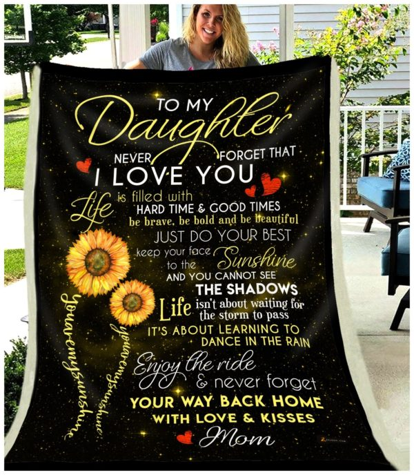 To My Daughter Quilt Blanket