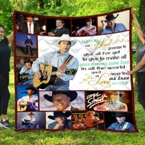 George Strait I Cross My Heart – Quilt Blanket