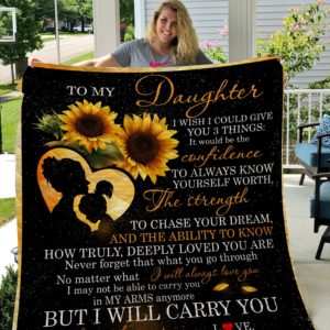 Sunflower – To My Daughter Quilt Blanket