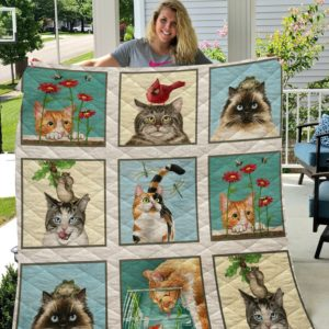 Cats Moment Quilt Blanket
