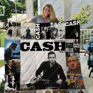 Johnny Cash Quilt Blanket 01