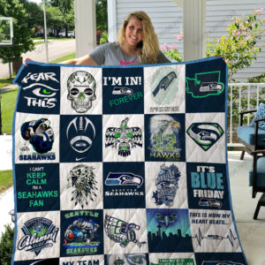 Seattle Seahawks Quilt Blanket 02