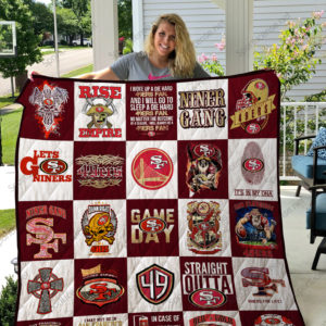 In Case Of Emergency My Blood Type Is San Francisco 49ers Quilt Blanket Great Customized Blanket Gifts For Birthday Christmas Thanksgiving