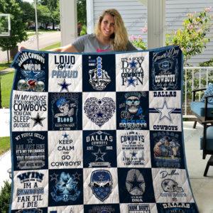 Dallas Cowboys Quilt Blanket 02