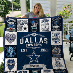 Dallas Cowboys Quilt Blanket 01