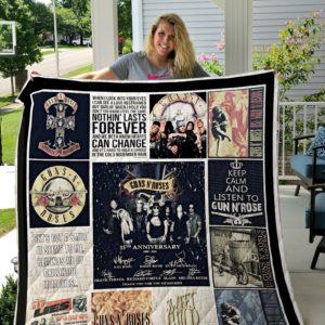 Guns N Roses Quilt Blanket