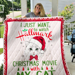Hallmark Christmas Movies And Cat Quilt Blanket
