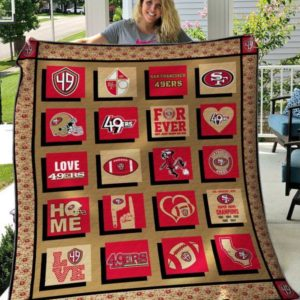 San Francisco 49ers Forever Quilt Blanket Great Customized Blanket Gifts For Birthday Christmas Thanksgiving