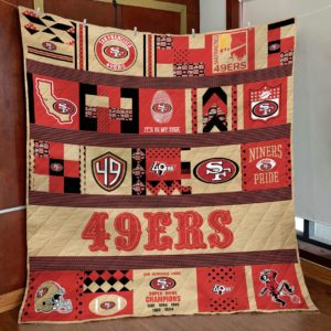 San Francisco 49ers Niners Pride Quilt Blanket Great Customized Blanket Gifts For Birthday Christmas Thanksgiving