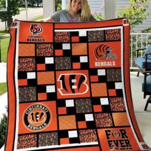 Cincinnati Bengals Quilt Blanket 01