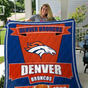 Denver Broncos Quilt Blanket 03