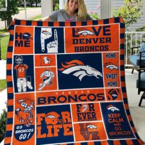 Denver Broncos Quilt Blanket 04