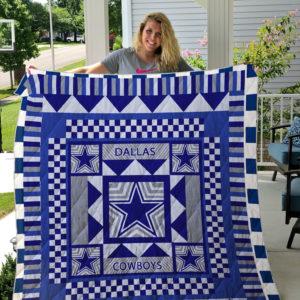 Dallas Cowboys Quilt Blanket 01