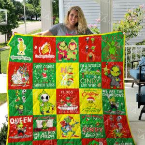 Grinch Quilt Blanket 04