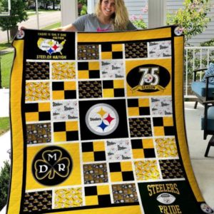 Pittsburgh Steelers Quilt Blanket 02