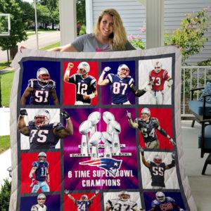 New England Patriots Quilt Blanket 01