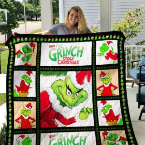 Grinch Quilt Blanket 01414