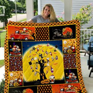 Snoopy Halloween 2019 Quilt Blanket