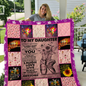 Personalized Ballet To My Daughter Quilt Blanket From Mom Believe In Yourself And Remember To Be Awesome Great Customized Blanket Gifts For Birthday Christmas Thanksgiving