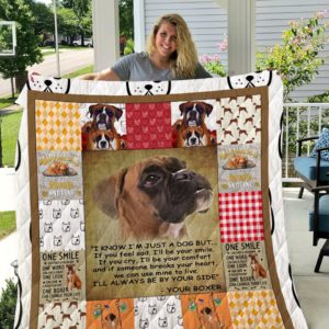 Boxer I'll Always Be By Your Side Quilt Blanket Great Customized Blanket Gifts For Birthday Christmas Thanksgiving
