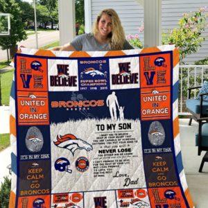 Denver Broncos Quilt Blanket