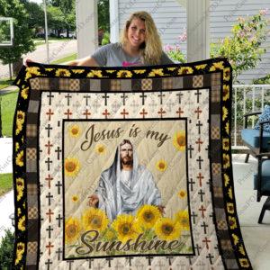 Jesus My Sunshine Quilt Blanket