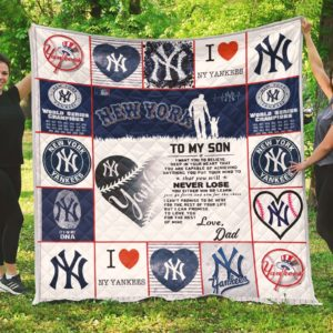 New York Yankees Family – To My Son Quilt Blanket