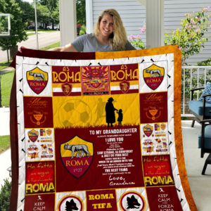 A.S. Roma – To My Granddaughter – Love Grandmom Quilt Blanket
