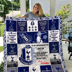 Tottenham Hotspur F.C Quilt Blanket Grandpa To Granddaughter