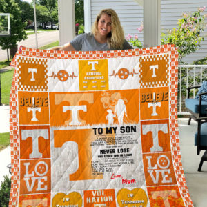 Tennessee Volunteers – To My Son – Love Mom Quilt Blanket