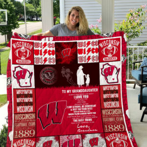 Wisconsin Badgers – To My Granddaughter – Love Grandmom Quilt Blanket