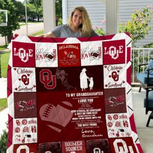 Oklahoma Sooners – To My Granddaughter – Love Grandmom Quilt Blanket