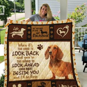 Dog-Blanket Quilt Blanket-Dachshund