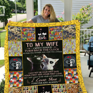 Personalized Cat To My Wife From Husband I Love You Forever And Always Quilt Blanket Great Customized Gifts For Birthday Christmas Thanksgiving Wedding Valentine's Day Perfect Gifts For Cat Lover