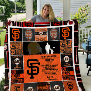 Personalized San Francisco Giants To My Grandson Quilt Blanket From Grandpa Always Remember How Much I Love You Great Customized Blanket Gifts For Birthday Christmas Thanksgiving